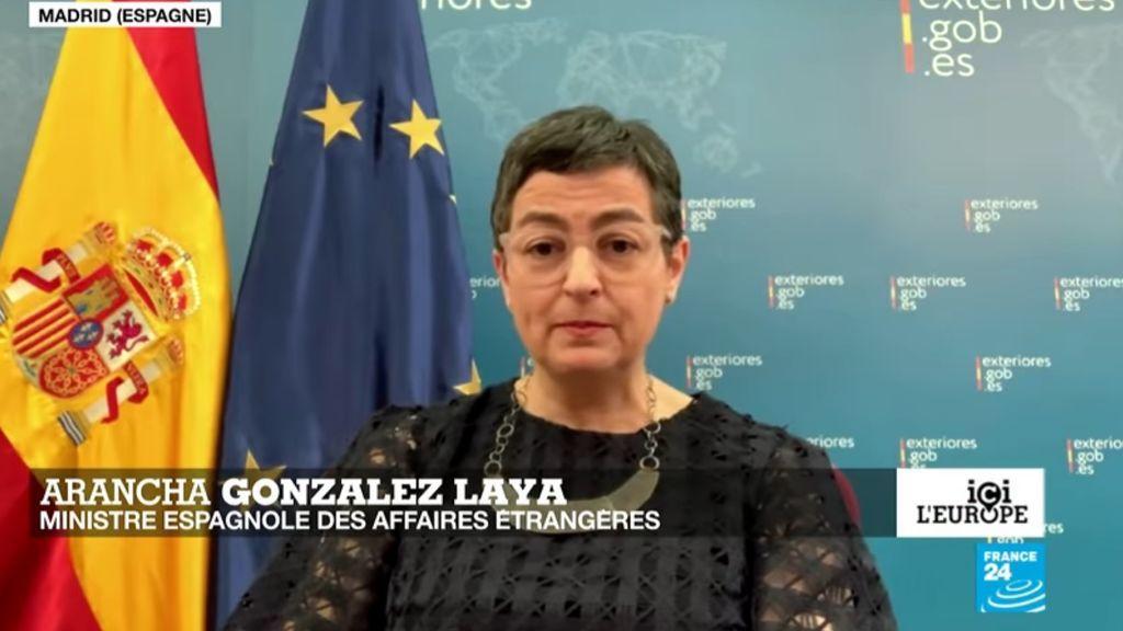 La ministra de Asuntos Exteriores, Arancha González Laya, durante una entrevista en France24