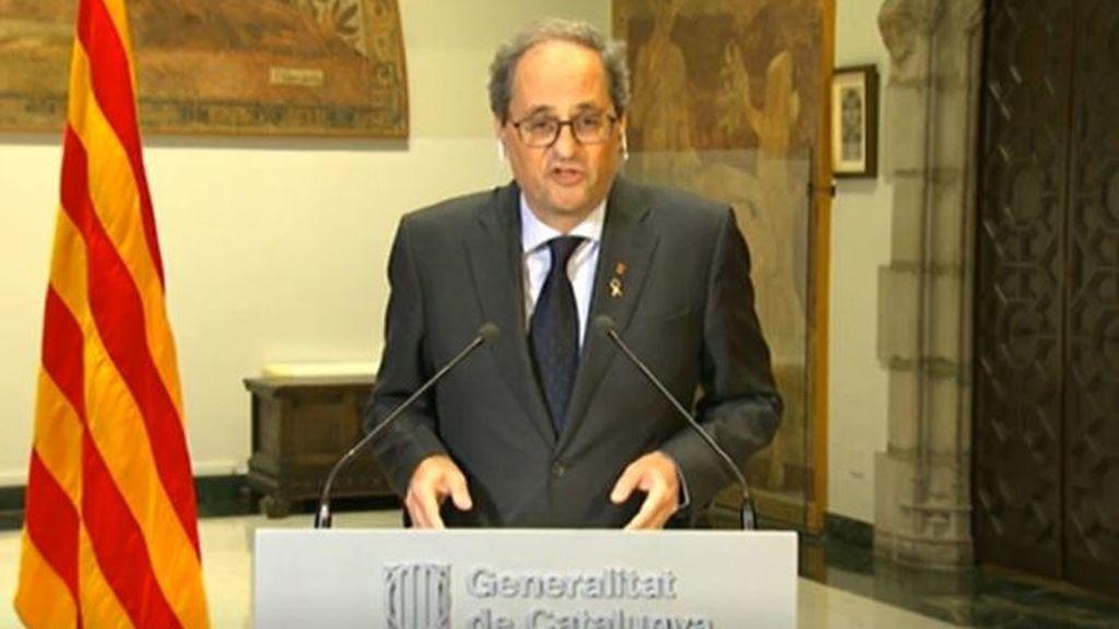 Torra urgirá a Sánchez este domingo a cumplir 40 medidas sobre Cataluña