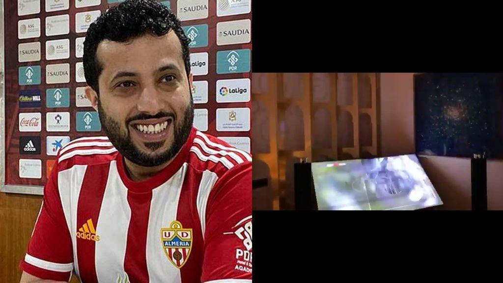 El jeque del Almería rompe la televisión tras meterle un gol en el FIFA