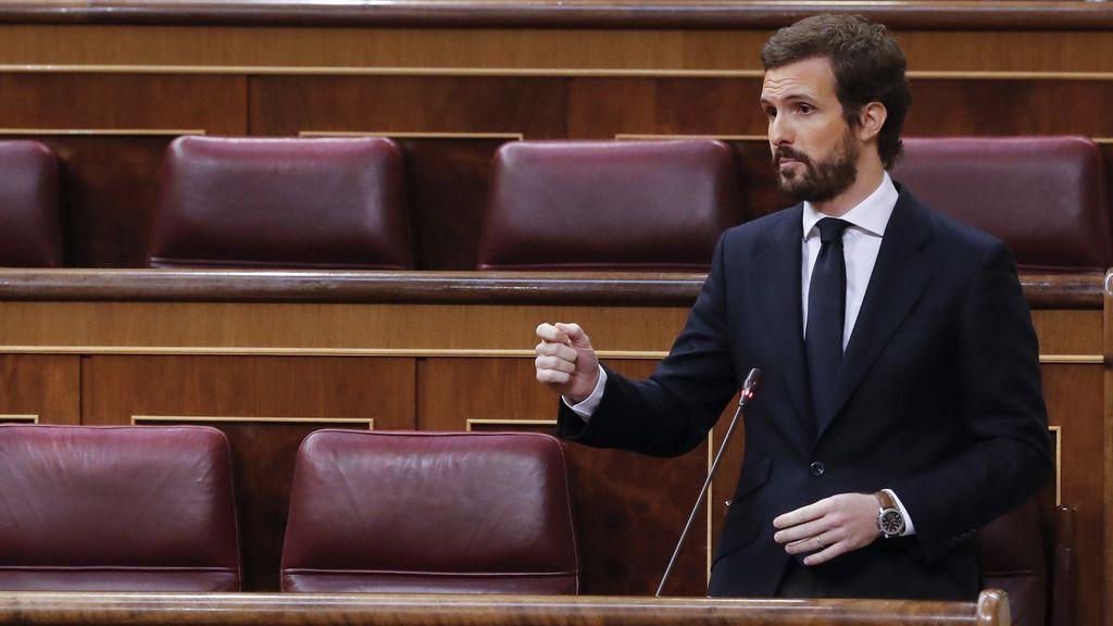 Casado arremete contra Sánchez por culpar al PP de su pacto con Bildu para derogar la reforma laboral