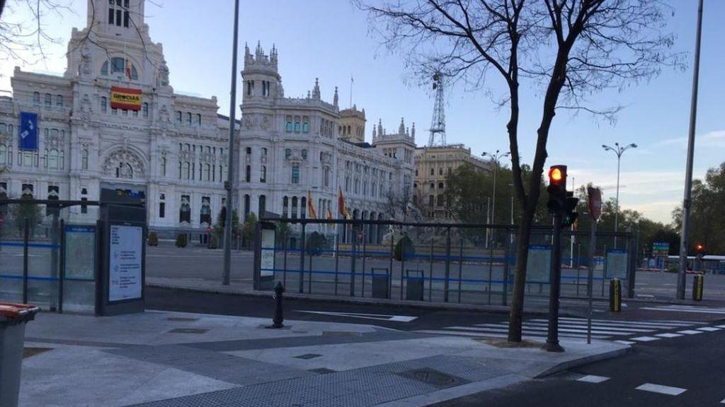 Las calles de Madrid, vacías