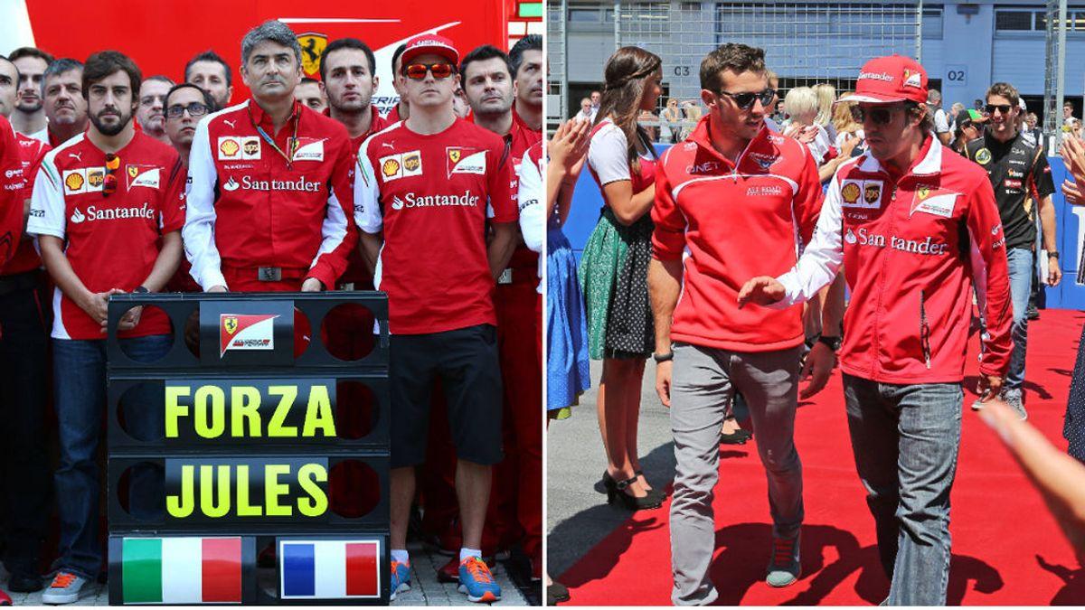 """El mensaje de Fernando Alonso a Bianchi cuando se cumplen seis años de su hazaña en Mónaco: """"Te echo de menos, Jules"""""""
