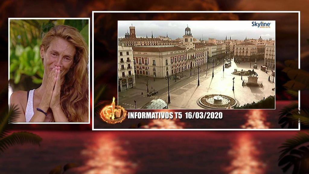 """Elena se queda en shock al ver los estragos causados por el coronavirus en España: """"Los verdaderos supervivientes son los que han vivido esta tragedia"""""""