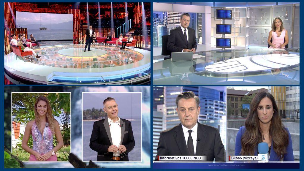 Telecinco, líder del fin de semana con 'Supervivientes' e Informativos Telecinco como las emisiones más vistas