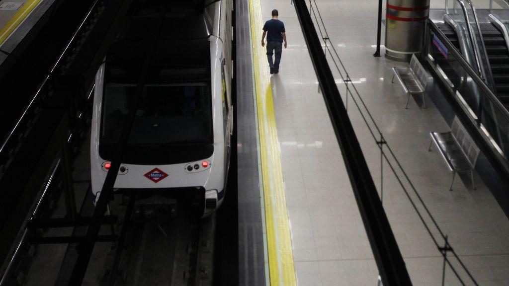El metro de Madrid, casi vacío