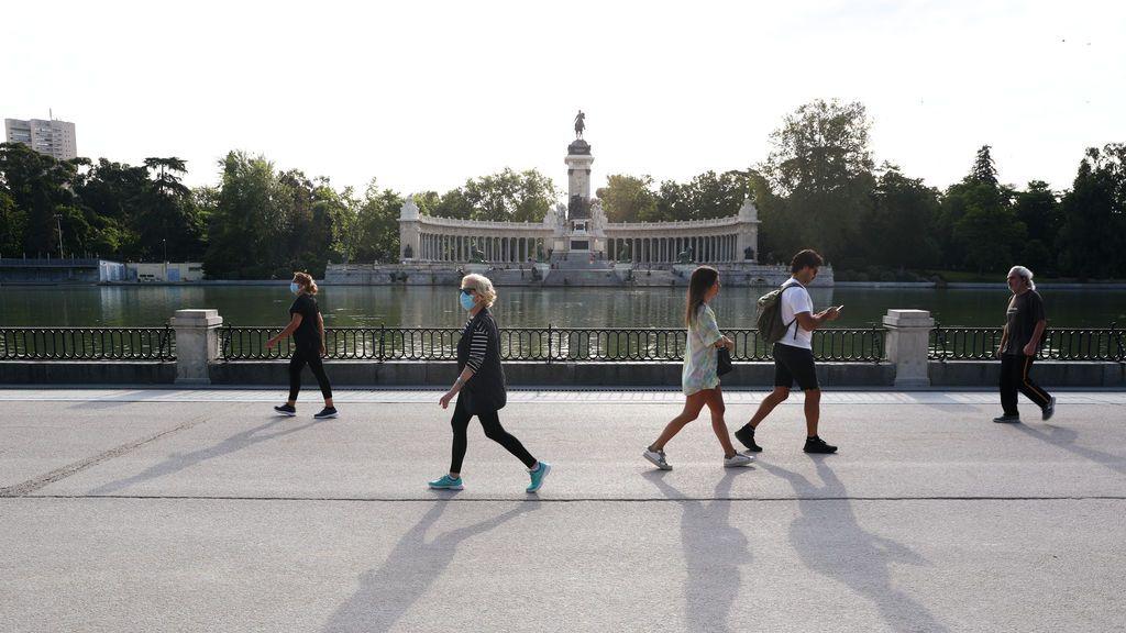 Paseos y reencuentros: el tiempo de la primera semana de Madrid en la fase 1