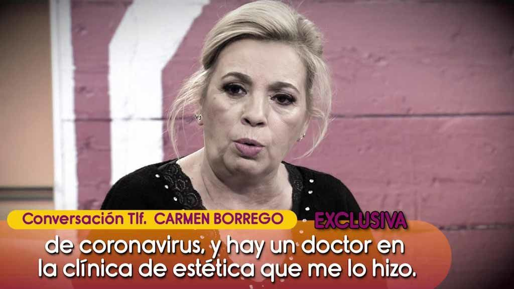 Carmen Borrego explica por qué acudió a una clínica estética a pesar de su positivo en coronavirus