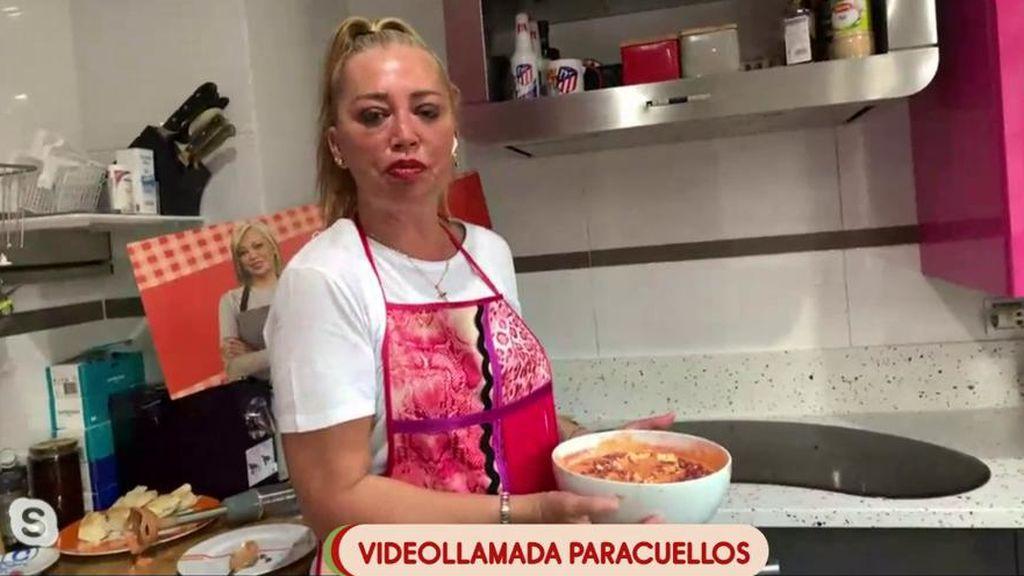 """Belén Esteban nos cocina un rico salmorejo y nos adelanta algo: """"Vais a tener una sorpresa mía esta semana"""""""