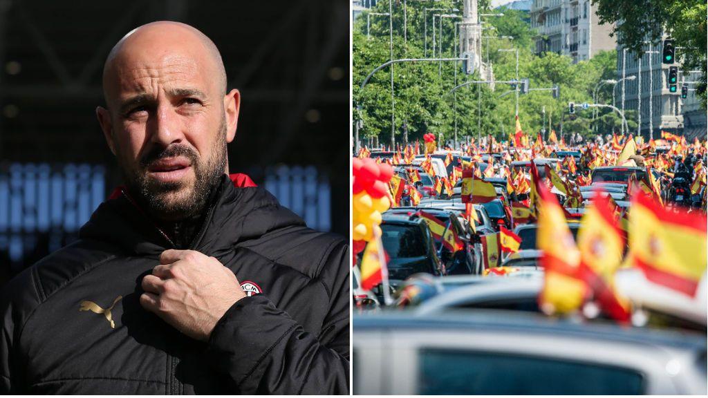 Las redes se ceban con Pepe Reina tras su apoyo público a la manifestación de VOX: facha, payaso o camorrista entre otros insultos