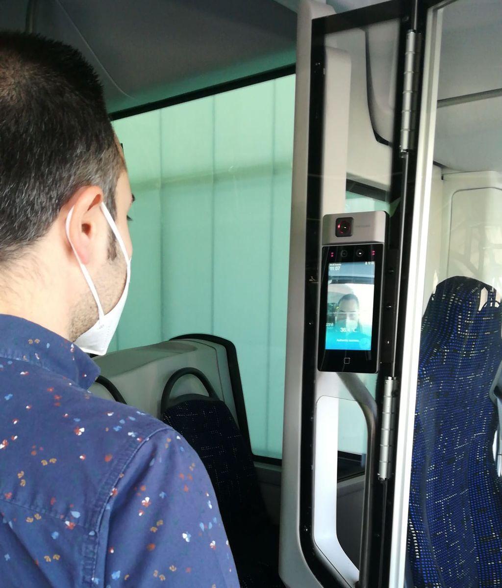 Estás cámaras controlan también el uso de mascarilla y el número de pasajeros