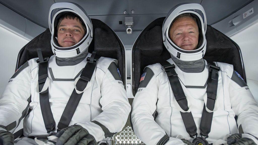 Los astronautas en una prueba