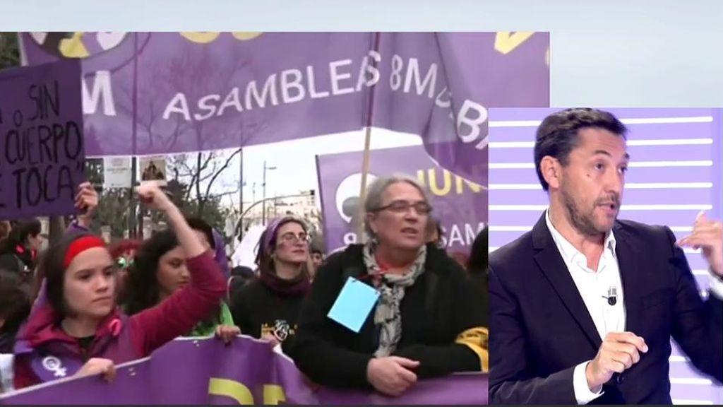 """Javier Ruiz, del informe del 8-M: """"Parece que se quiere culpar a las feministas de los contagios"""""""