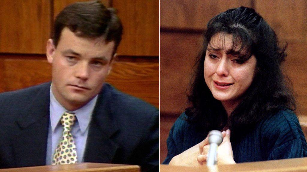 John Wayne Bobbitt y Lorena Bobbitt, en el juicio de 1994