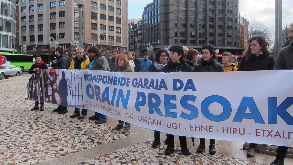 Protesta a favor del acercamiento de presos a Euskadi