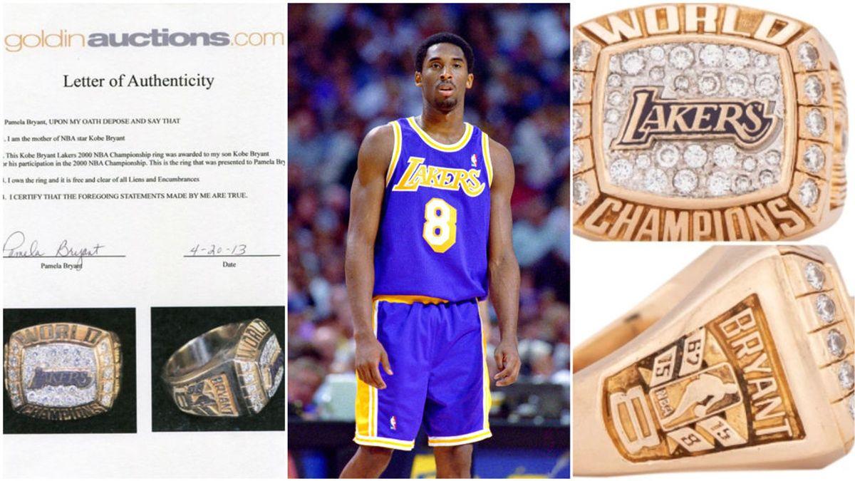 Venden en una subasta un anillo que Kobe Bryant le regaló a sus padres por 160.000 dólares