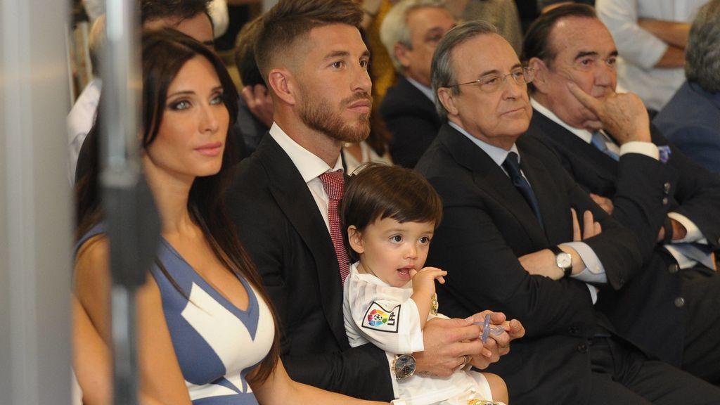Sergio Ramos, en su último acto de renovación con el Madrid en 2015.