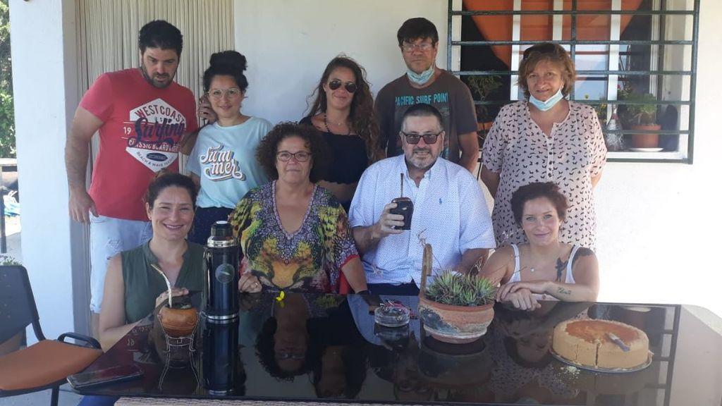 Julio, junto a toda su familia
