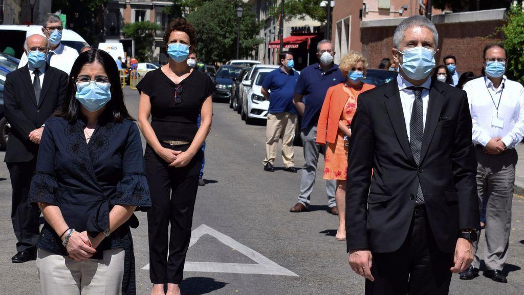 La ministra de Política Territorial y Función Pública, Carolina Darias, y el ministro del Interior, Fernando Grande-Marlaska