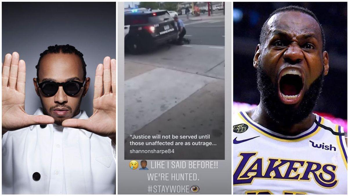 """Lewis Hamilton y Lebron James estallan tras el asesinato de un ciudadano negro a manos de la policía de Estados Unidos: """"¡Quieren cazarnos!"""""""