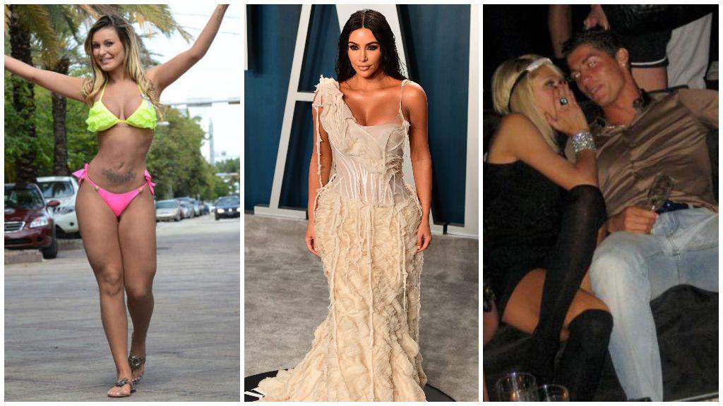 Andressa Urach, Kim Kardashian y Paris Hilton, de izquierda a derecha.