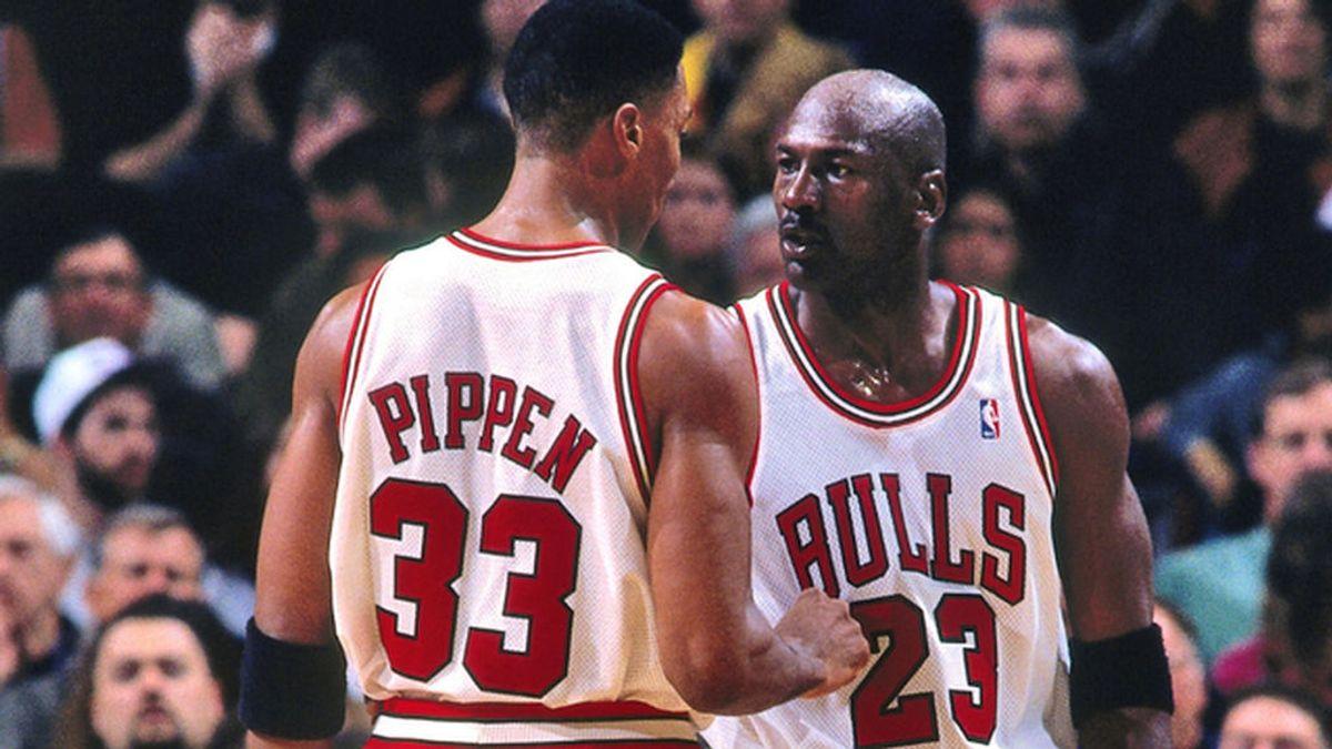 Jordan y Pippen en su etapa en los Bulls