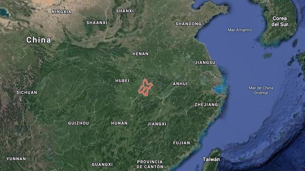 La dimensión de Wuhan, en China, a vista de satélite
