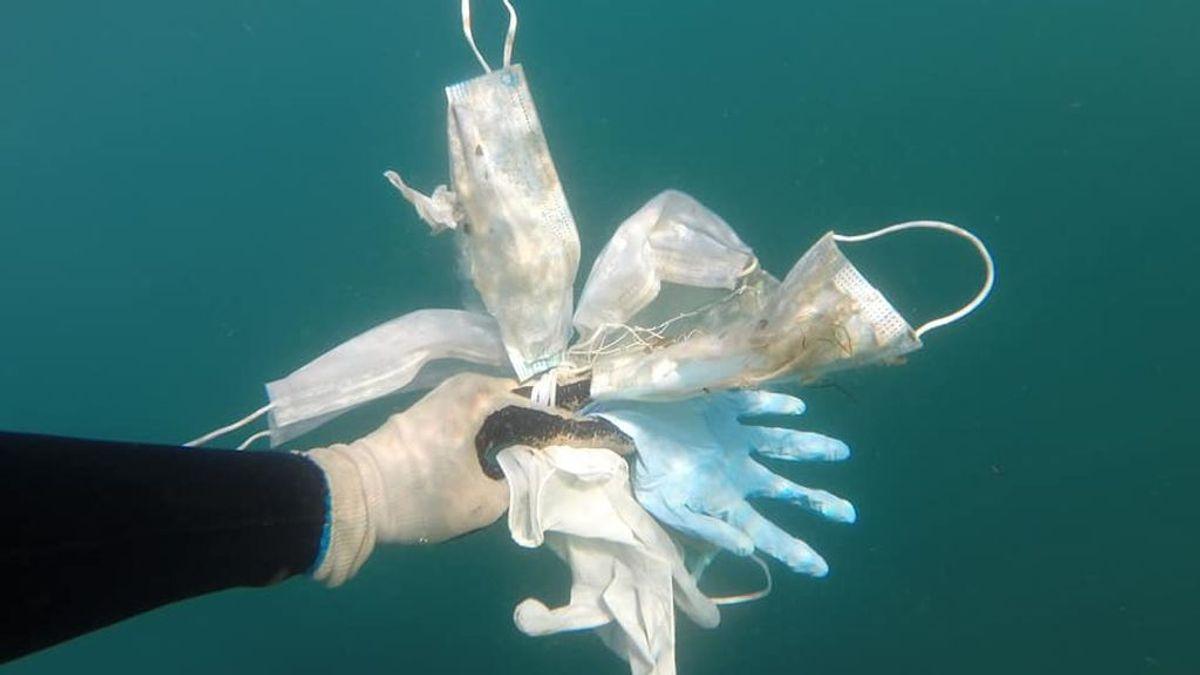 Mascarillas y guantes en el Mediterráneo: unos buceadores los encuentran en el fondo del mar