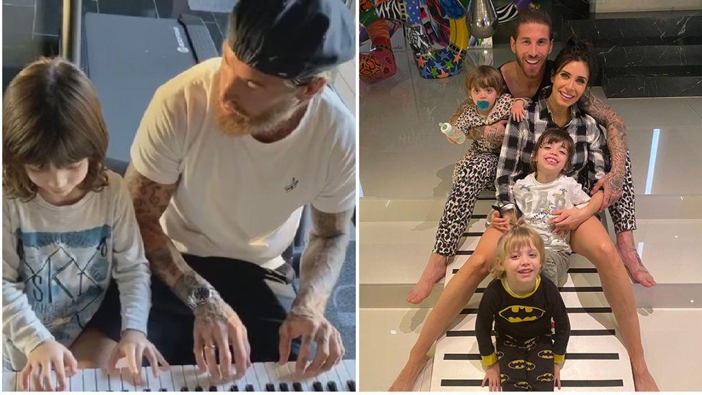 """Sergio Ramos hace de profesor de piano de su hijo mayor: """"Con cada tecla tocas mi alma"""""""