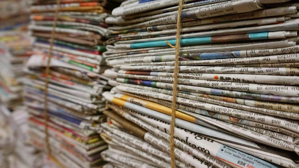 Periódicos empaquetados