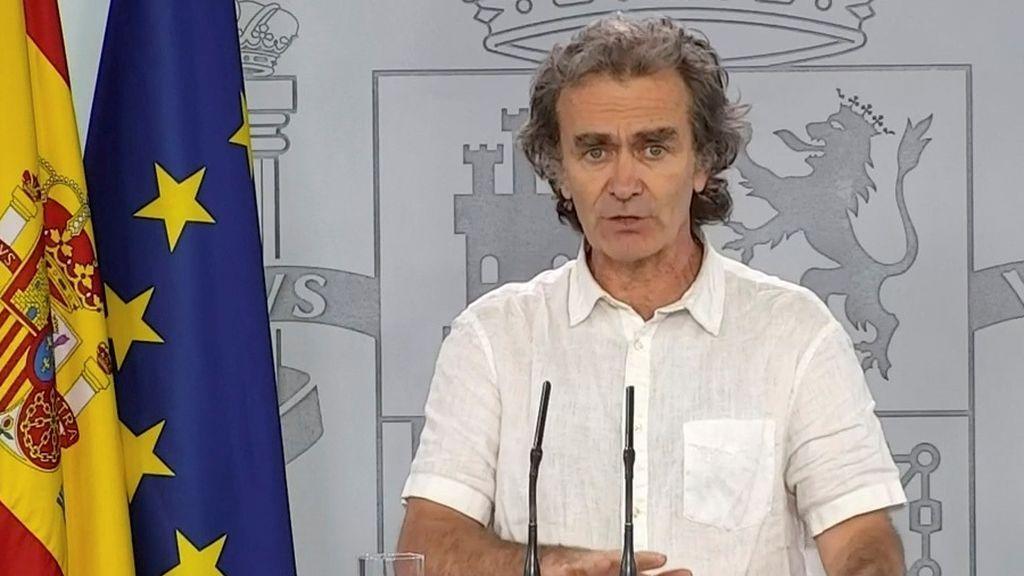 """Fernando Simón: """"El 11% de los contactos estrechos han tenido síntomas"""""""