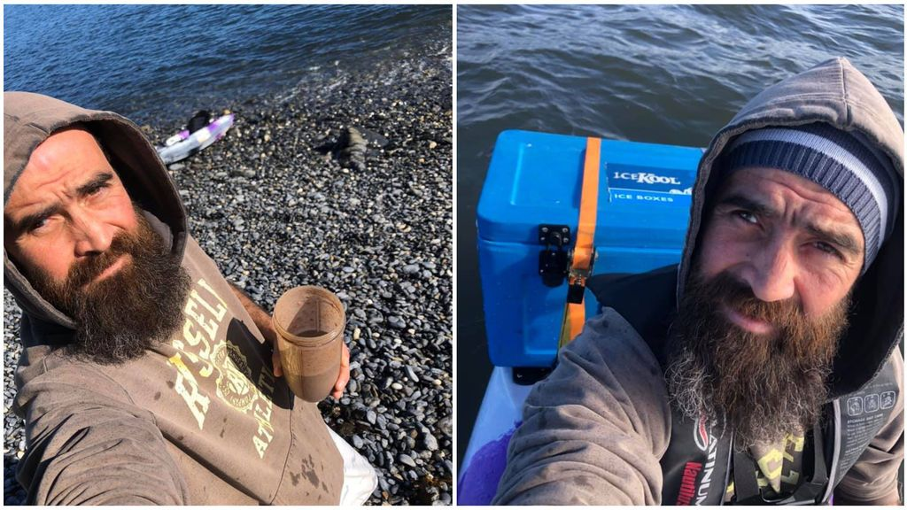 """Un kayakista se graba exhausto y a la deriva pocos minutos antes de morir: """"Es agotador"""""""
