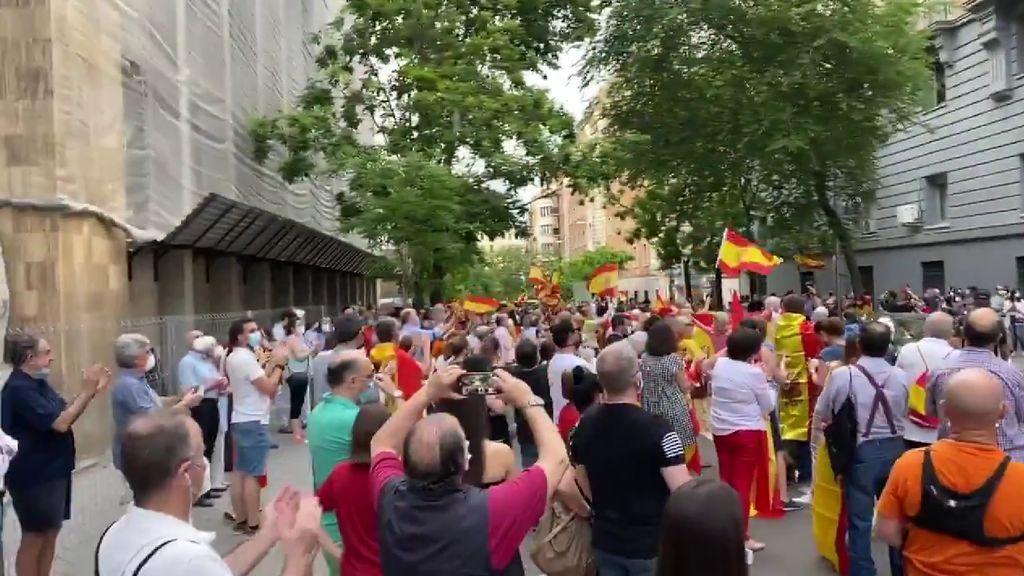 Protestas frente a la sede de la Guardia Civil de Madrid para pedir la dimisión de Marlaska y Sánchez