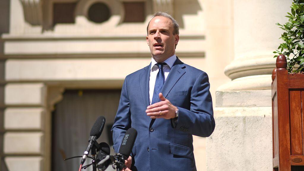 El ministro de Exteriores británico, Dominic Raab