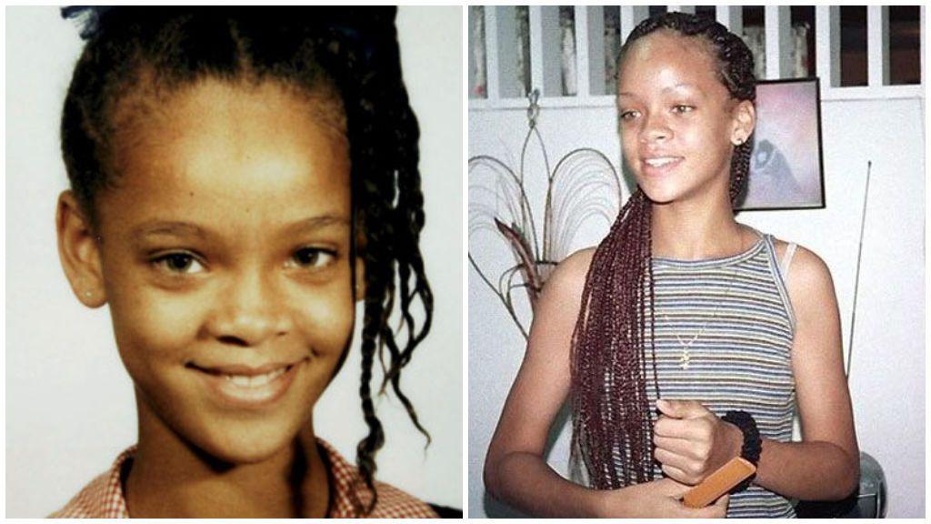 Rihanna, de joven.