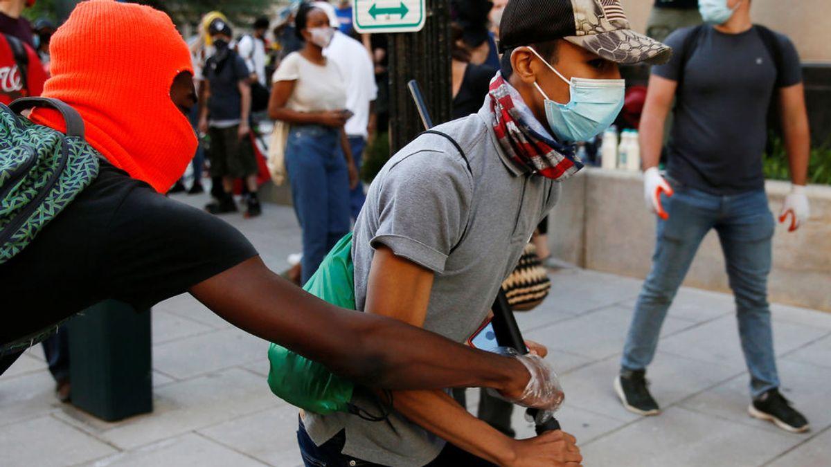 """Sexta noche de violencia: 40 ciudades con """"toque de queda"""" en Estados Unidos"""