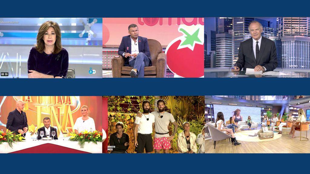 Telecinco,  líder en mayo