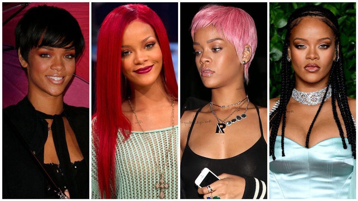 Estos han sido todos los cambios de look de la cantante Rihanna.