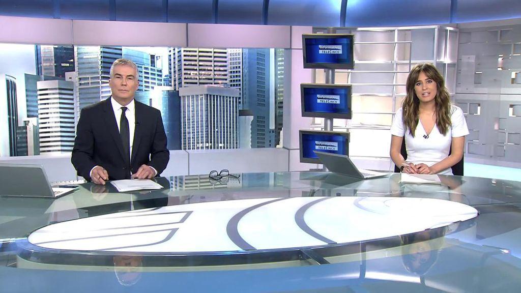 Con Isabel Jiménez y David Cantero Informativos Telecinco 2020 Mediodía 01/06/2020