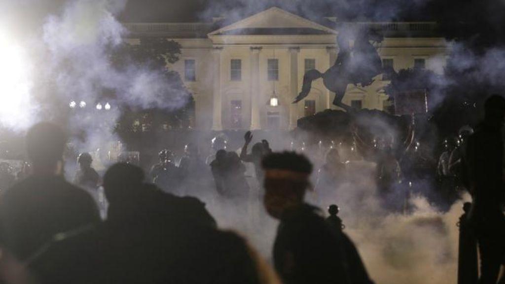 gases lacromógenos en la Casa Blanca