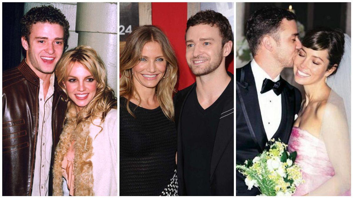 La agitada vida amorosa de Justin Timberlake.