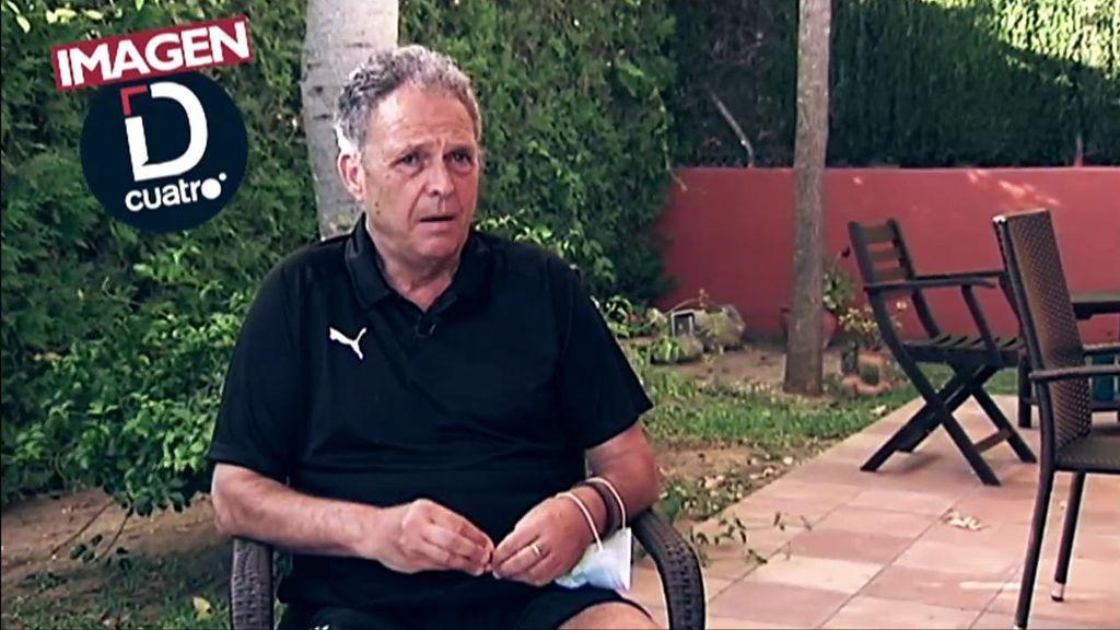 Joaquín Caparrós, en un momento de la entrevista en Deportes Cuatro.
