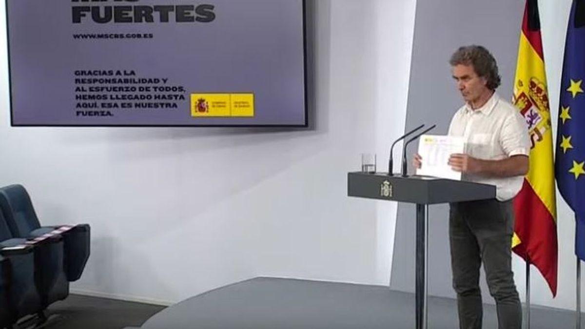 """Fernando Simón: """"Los datos de fallecidos están generando algunos problemas y entiendo que haya algún estupor"""""""