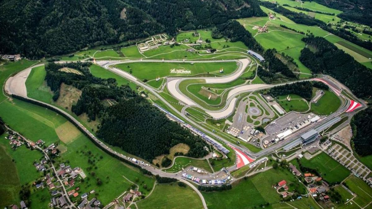 Plano aéreo del GP de Austria