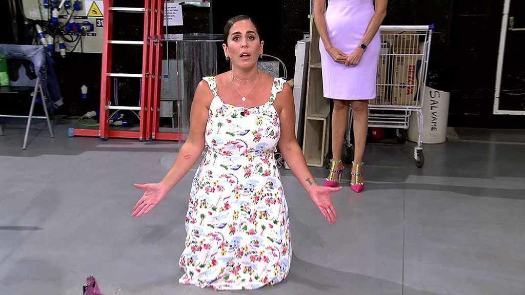 """Anabel Pantoja se va llamando """"payaso"""" y """"estúpido"""" a Rafa Mora y acaba de rodillas cabreada con 'Sálvame': """"¿Me vais a crucificar?"""""""