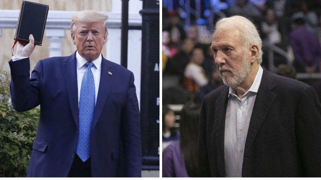 """Popovich carga contra Donald Trump: """"Es un idiota trastornado que se esconde en el sótano de la Casa Blanca"""""""