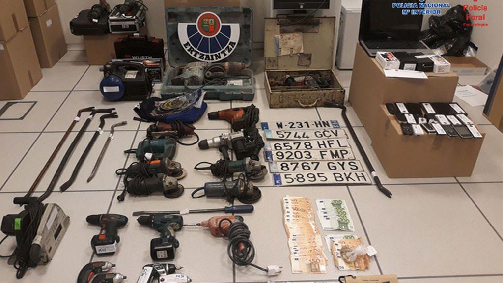 Desarticulado un grupo criminal asentado en Gipuzkoa al que se le atribuyen 28 robos con fuerza en empresas