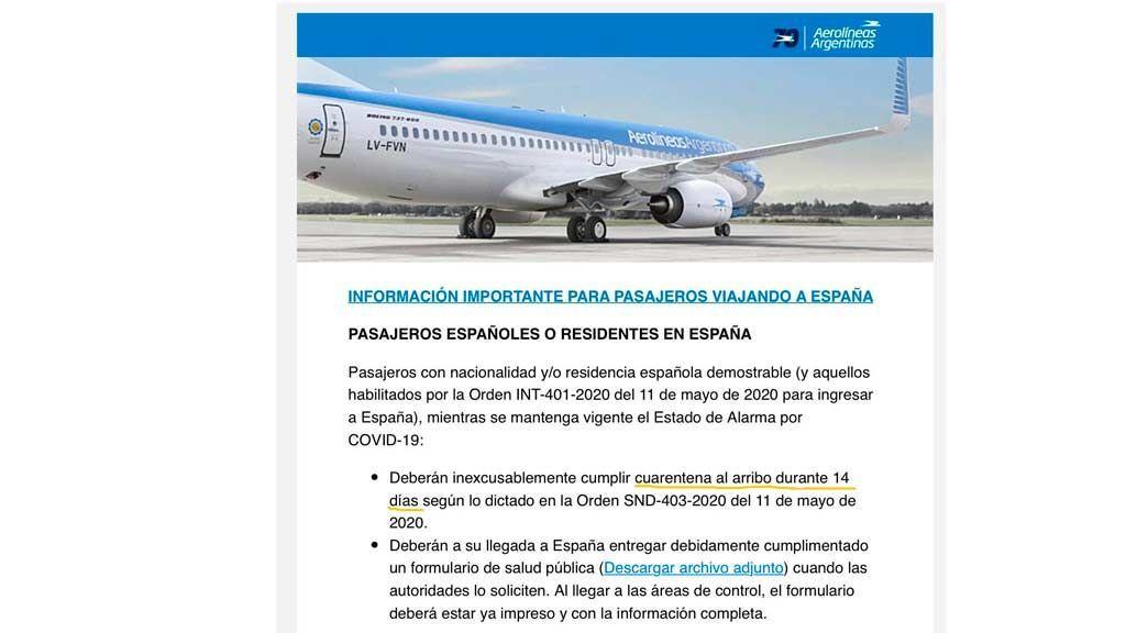 documento compañía aérea