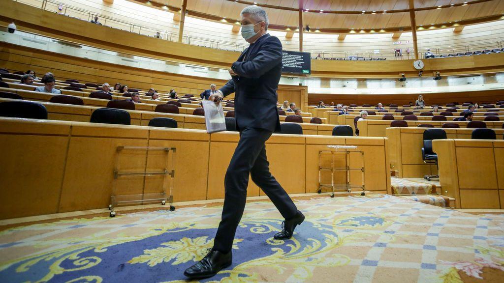 Marlaska, equilibrios sobre el alambre por el informe del 8-M y el cese de Pérez de los Cobos