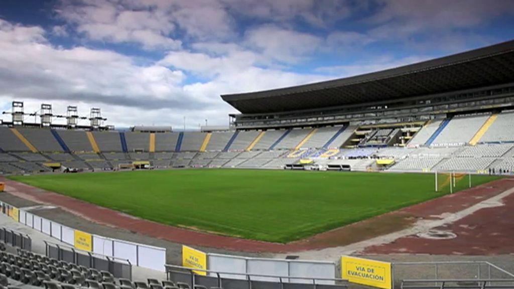 El estadio de Las Palmas, sin público.