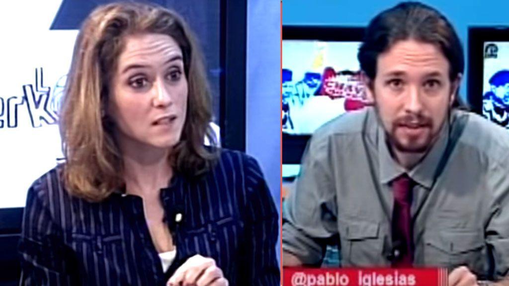 """El pasado de Isabel Díaz Ayuso como tertuliana de Pablo Iglesias, con quien se iba """"de cañas"""""""
